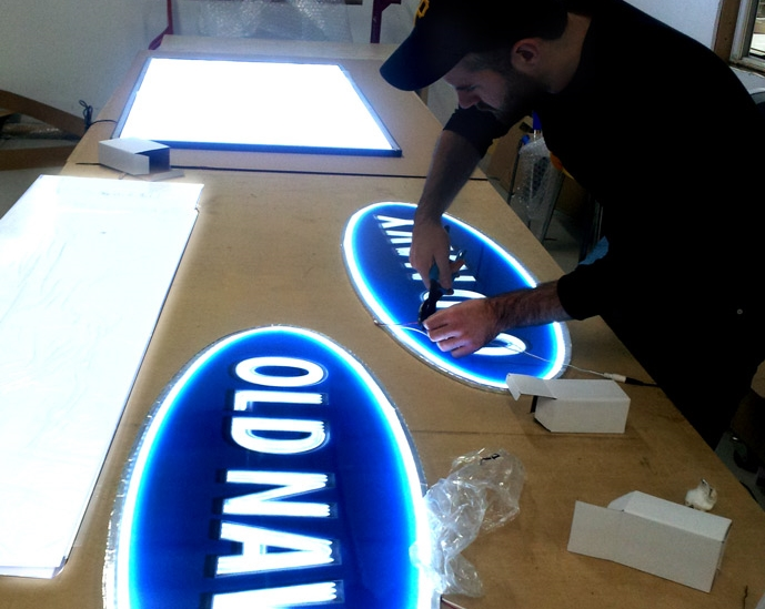 LED custom light box
