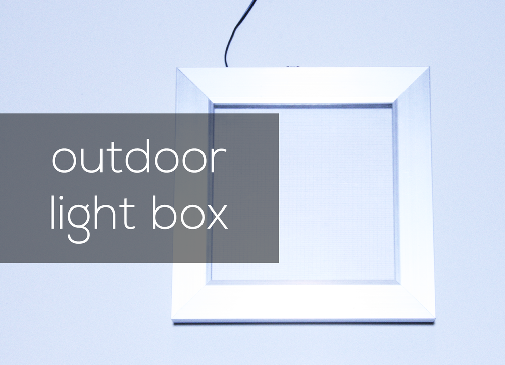LED outdoor light box link