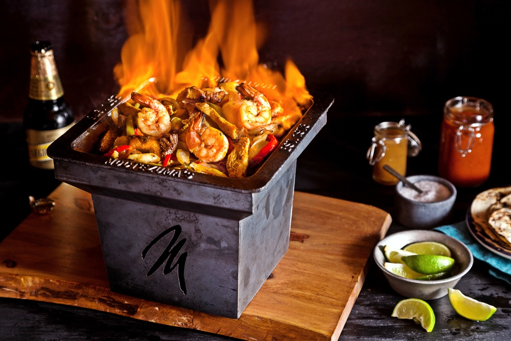 Flaming Tequila Fajitas