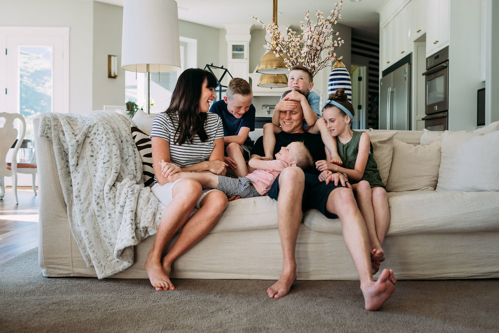 In-home lifestyle session | Mountain home {Utah family photographer}