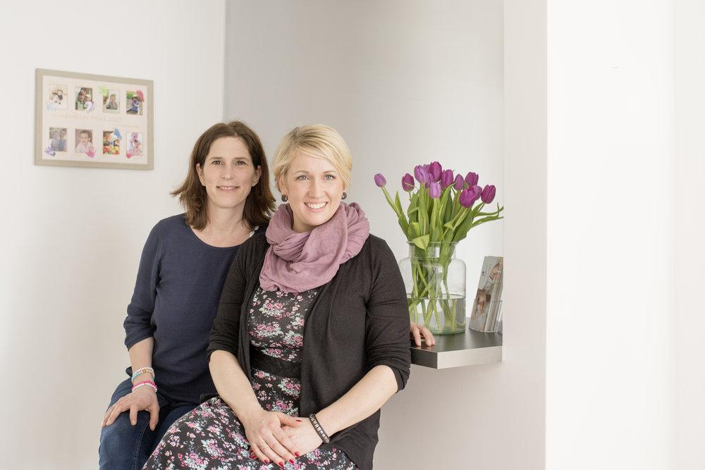 Andrea und Nathalie, Kopf und Herz von Kinderblick (www.kinderblick.info)  Porträt: Susanne Werding Familienfotografie