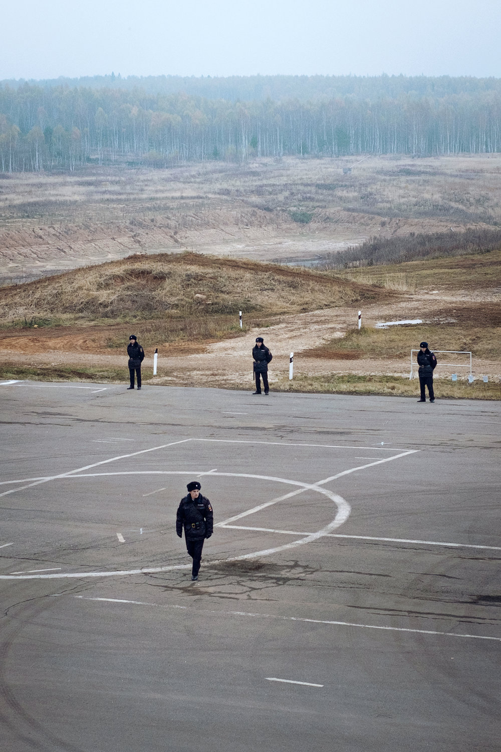 """Russian police at the 19th homeland security exhibition """"INTERPOLITEX"""". Military base, Russia,2015."""