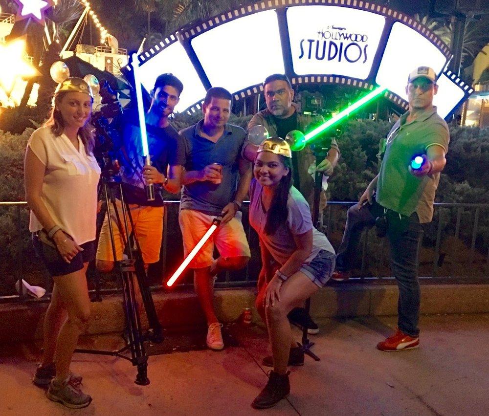 Fun with light sabers at Hollywood Studios