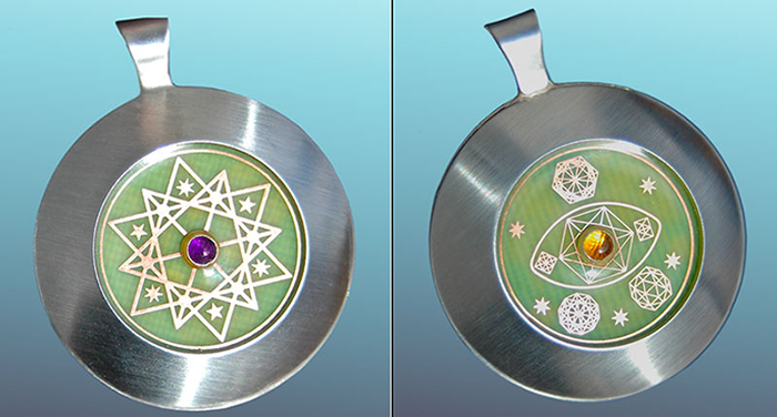 Heart Companion : 2 Gems - Amethyst & Citrine