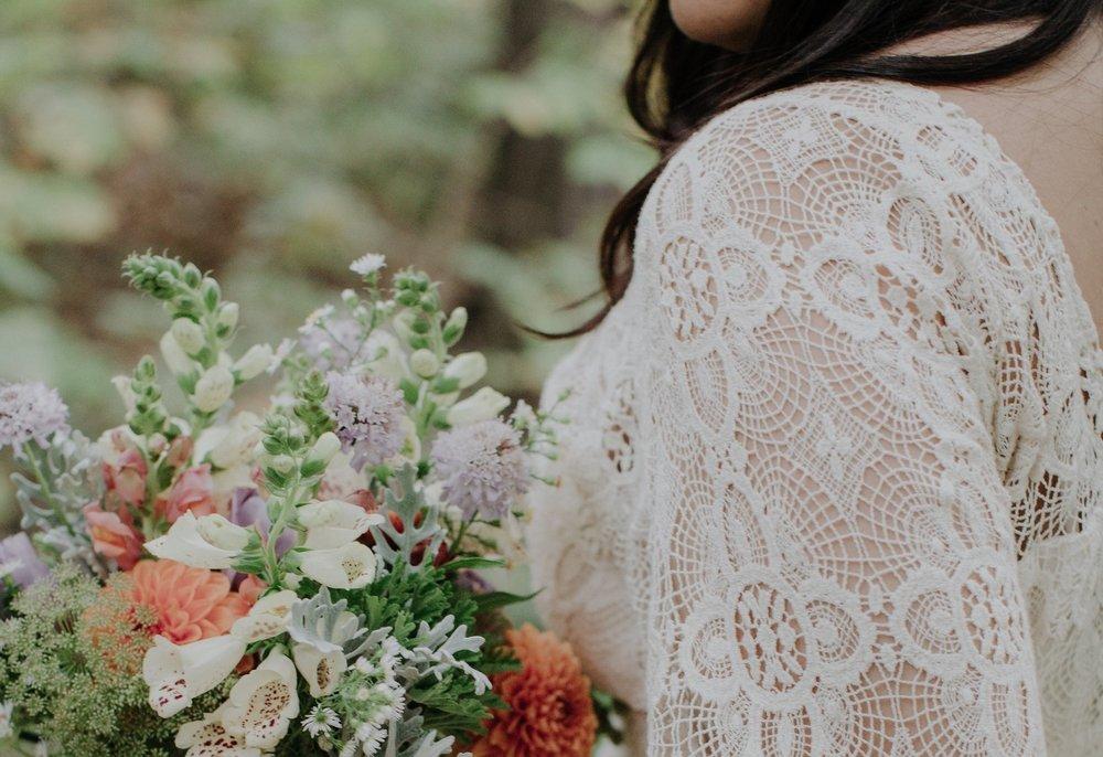 foxglove bridal bouquet