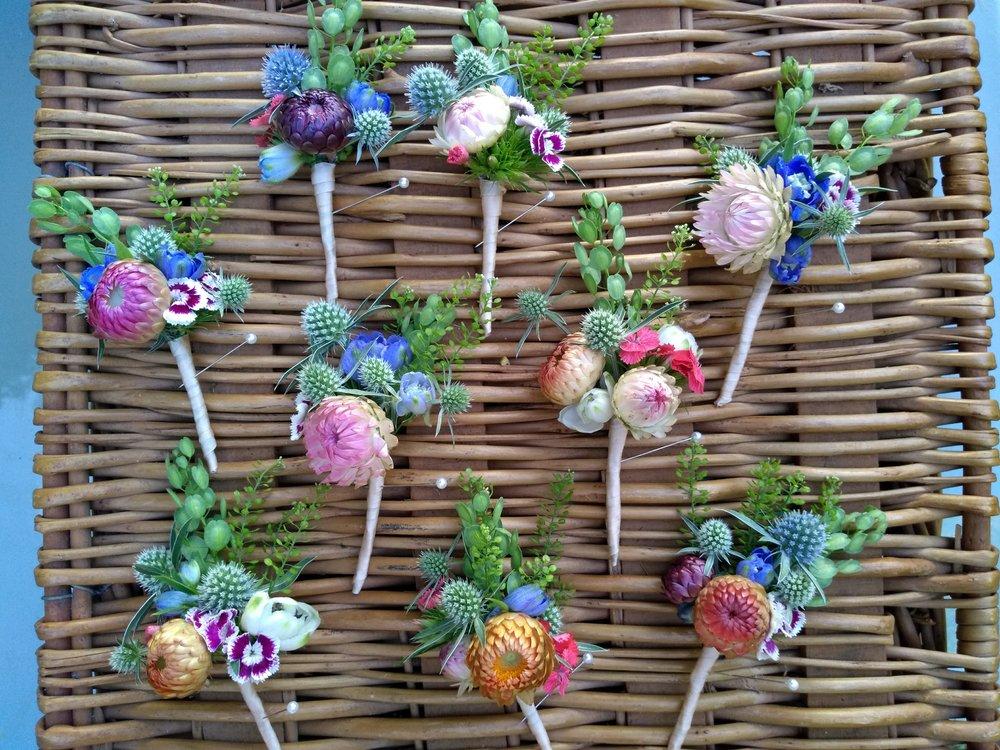 strawflower boutonnieres