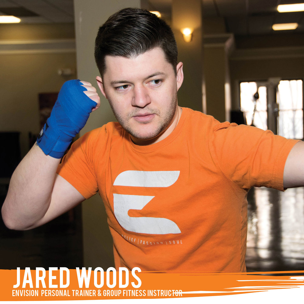 Passionate about kickboxing and Muay Thai, Jared brings fun and discipline to clients with a blend of dynamic exercises and fitness kickboxing routines. Also a certified weight loss specialist through NASM, Jared is available to help you make the choices and changes you need to meet your weight loss goals