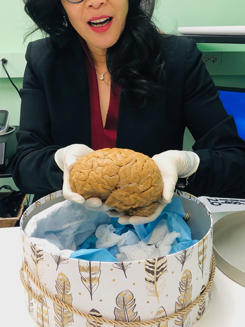 Dr. Wendy Suzuki explains the impact of physical activity on the brain during our team's trip to her lab at NYU.