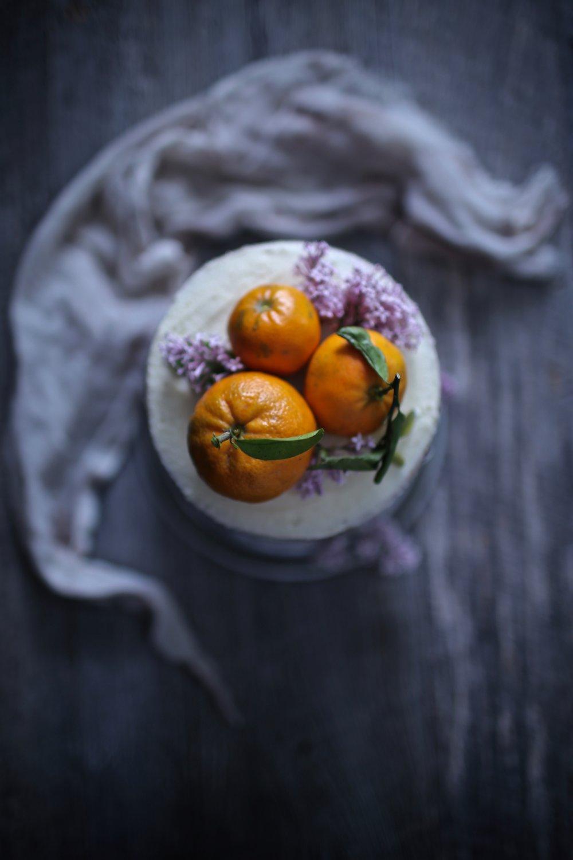 Fresh Orange and Lavender Cake.