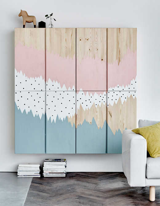 - The IVAR cabinets are one of my favs because you can DIY the heck out of these babies. With a little paint and creativity, you can create some amazing custom looks. Click for more DIY ideas.