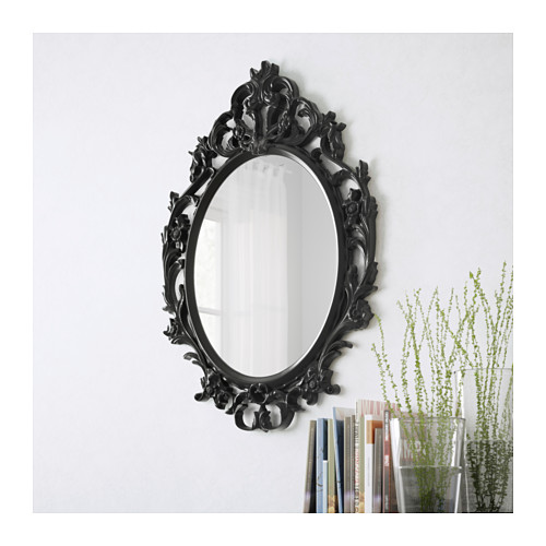 - I have an obsession with ornate mirrors! They make such great statement pieces. This one is bold, and will stand out in your space. Anchor it in an entry way or above a buffet table for some flair.