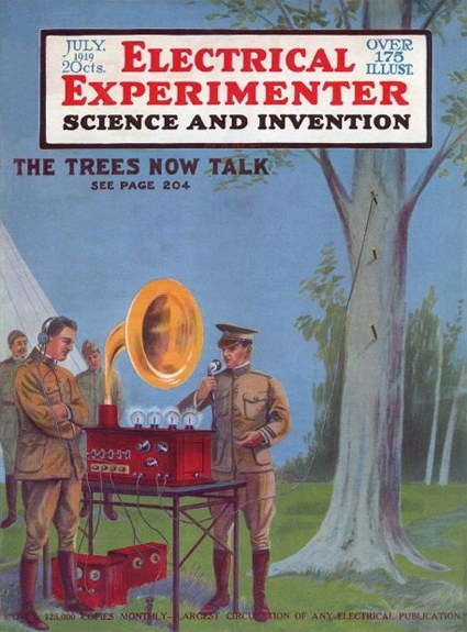 George O. Squier ~ Trees as Antennas (Scientific American, June 14, 1919 & British Patent Specification # 149,917)