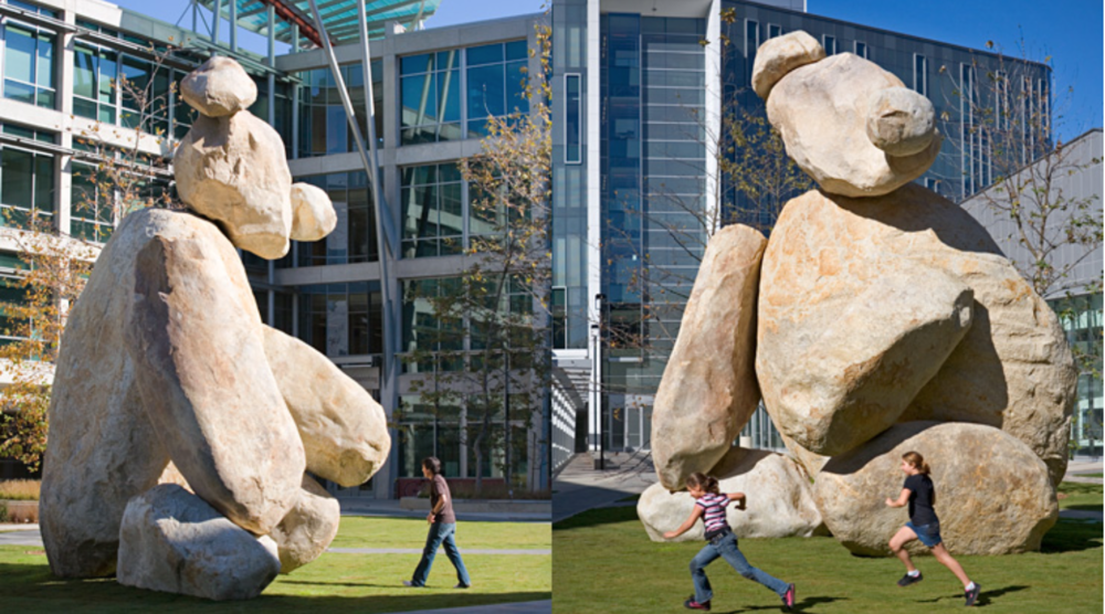 Tim Hawkinson's Bear - Image courtesy of The Stuart Collection -  UC SanDiego