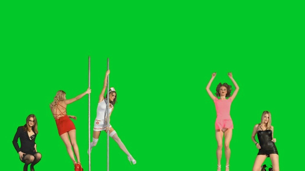 "Cortright's 2015 show ""Niki, Lucy, Lola, Viola"" projected dancing stripper flash animations about the walls of the gallery., via DigiArt21"
