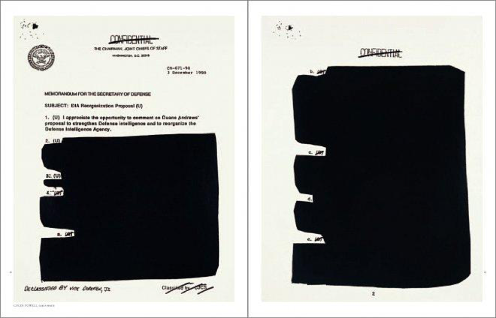 Image courtesy of Cheim and Read- http://www.cheimread.com/publications/jenny-holzer-redaction-paintings/gallery/images
