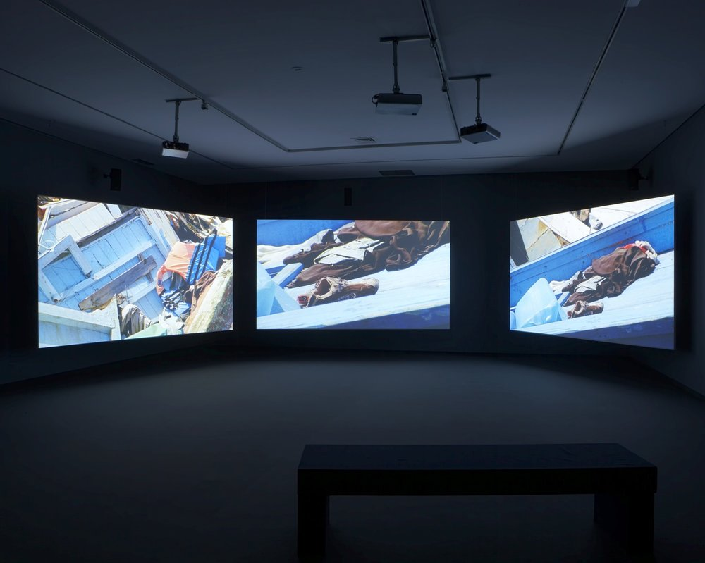 Image courtesy of Isaac Julien -  https://www.isaacjulien.com/projects/western-union-small-boats/