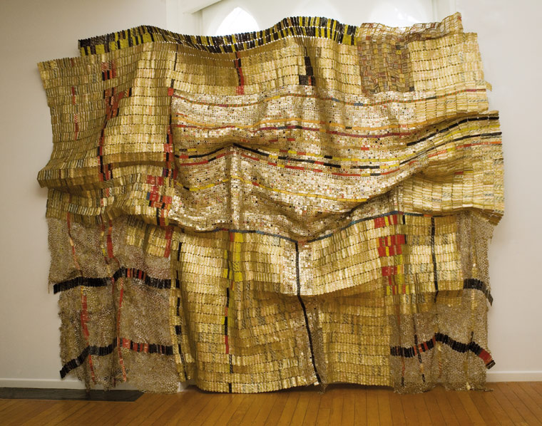 Image courtesy of  http://www.octobergallery.co.uk/art/anatsui/duvor.shtml