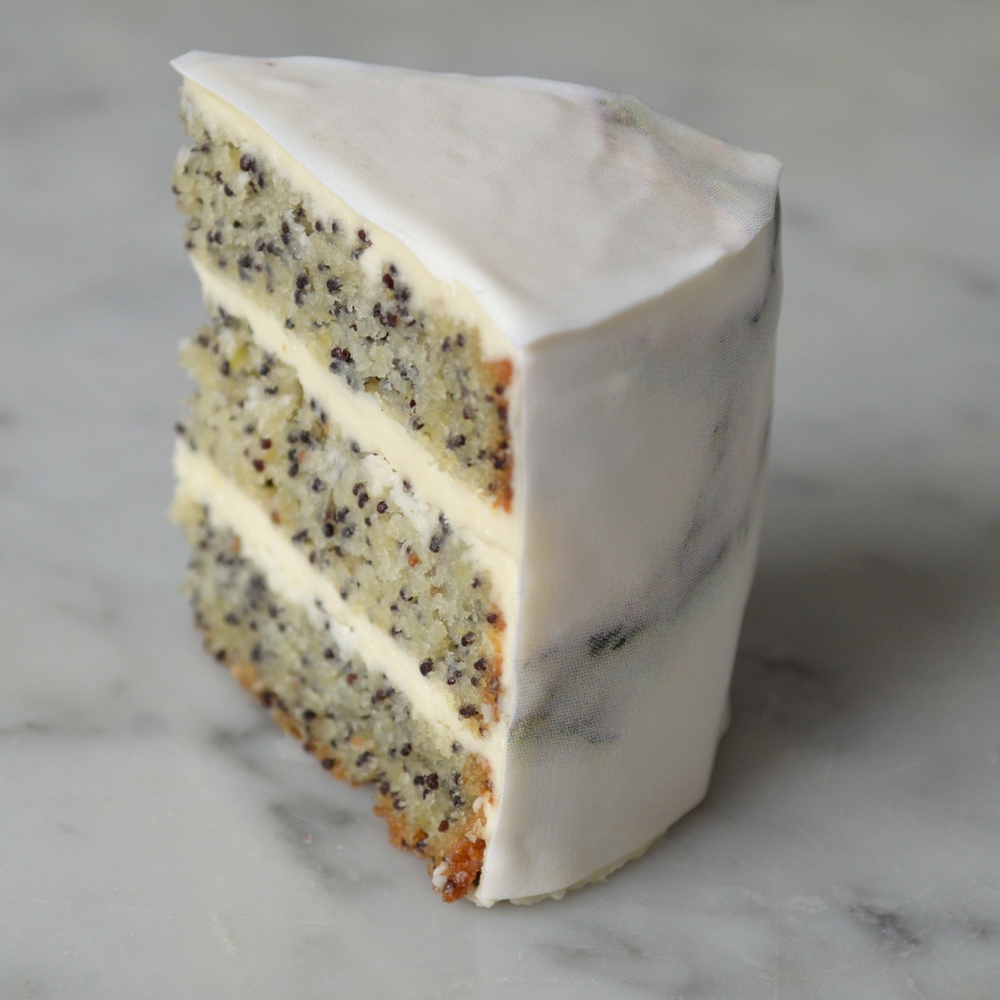Lemony Poppyseed Cake with  Carrara Chefanie Sheets