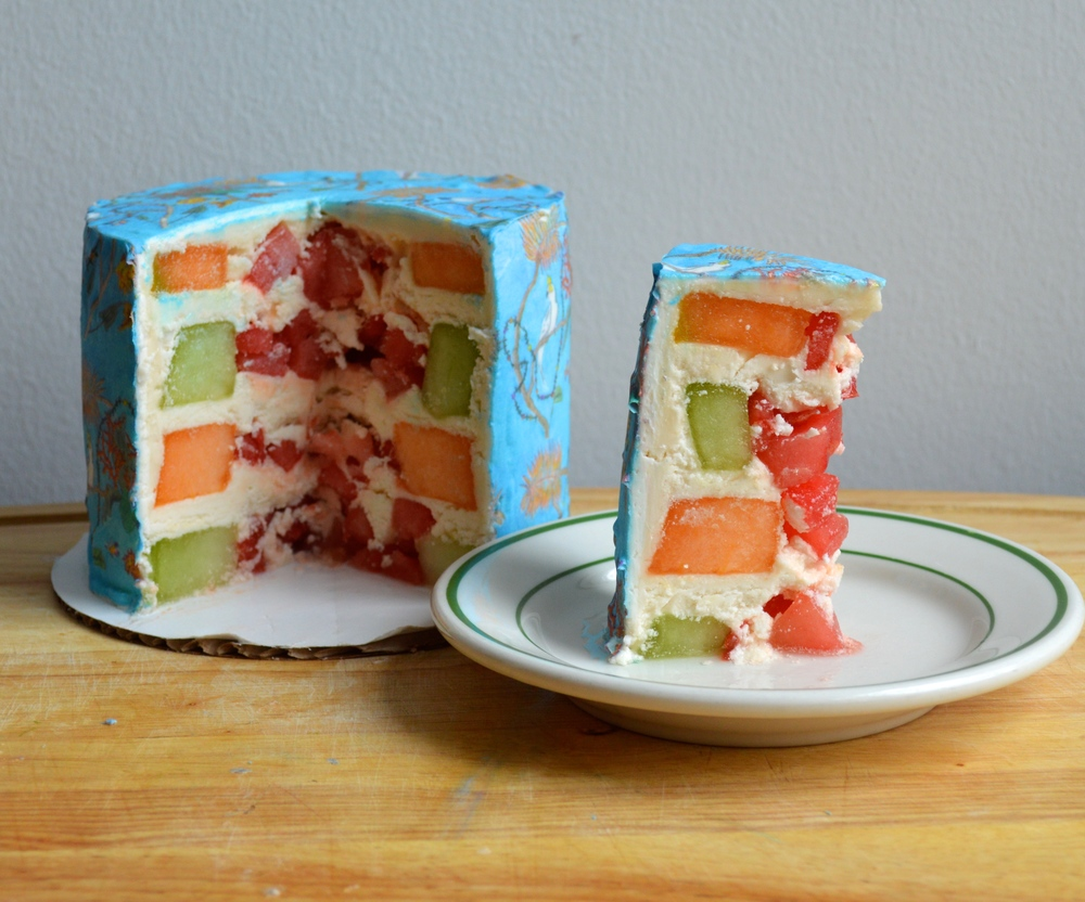 Melon Cake with St. Barths Chefanie Sheets