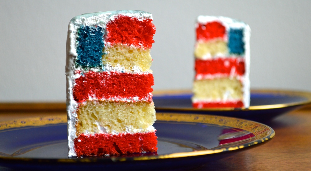 American Flag cake with Carrara Chefanie Sheets