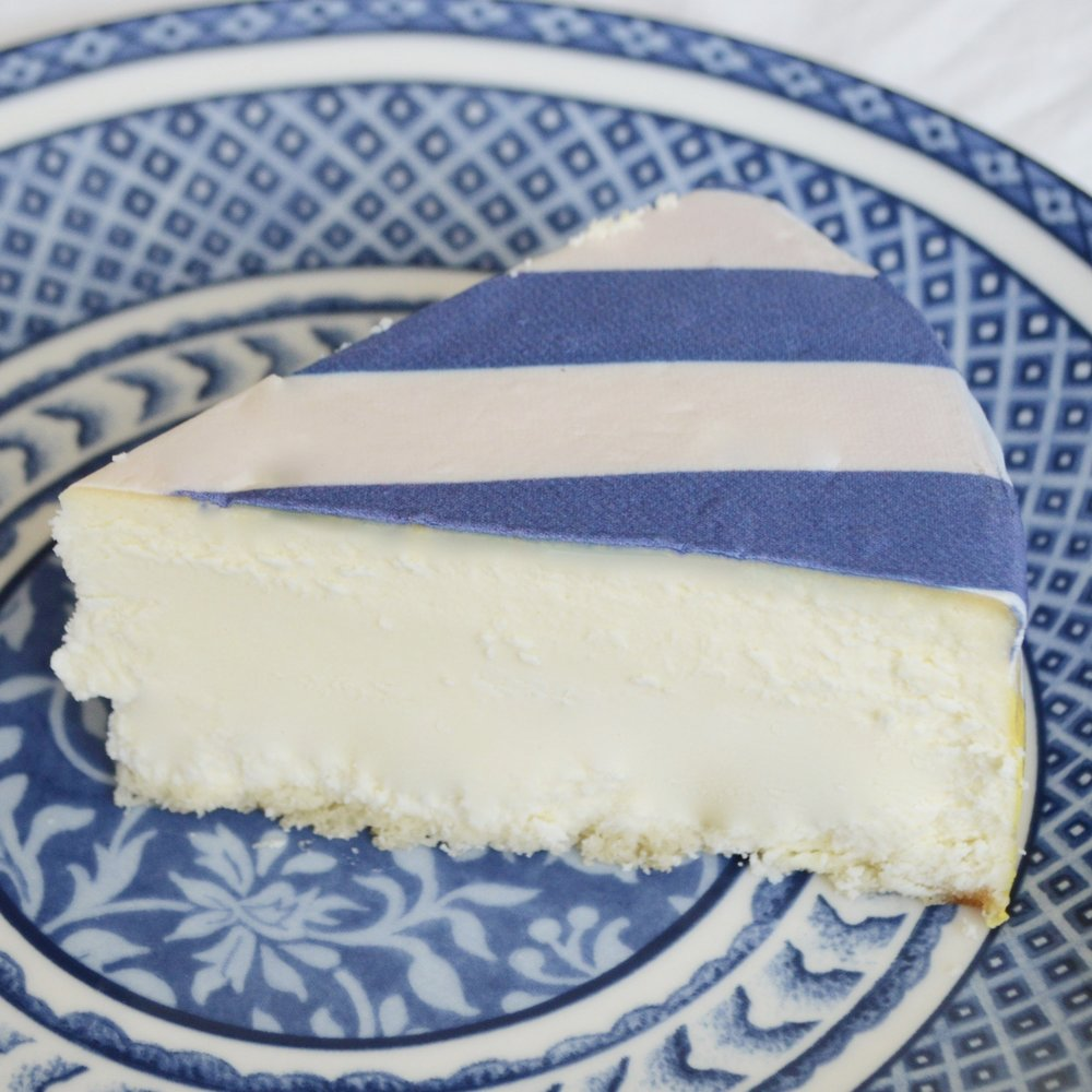 Cheesecake covered in Stripes