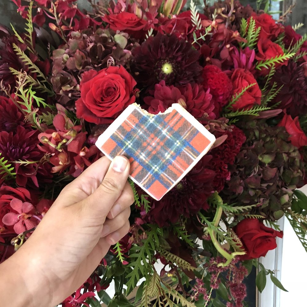 Tartan Christmas Plaid Cookie