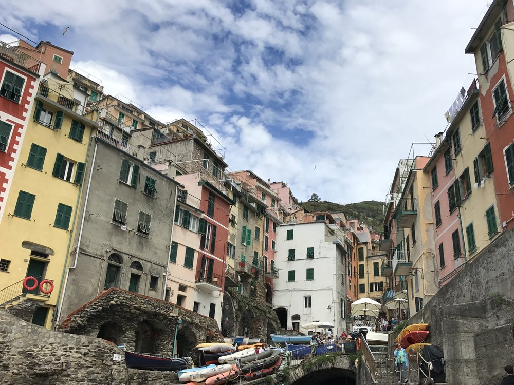 Riomaggiore from the harbor