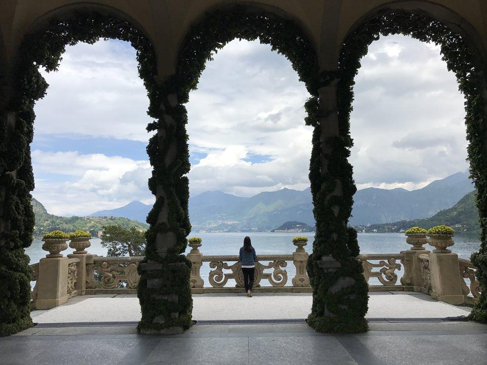 One of the many views of Lake Como from Villa Balbaniello