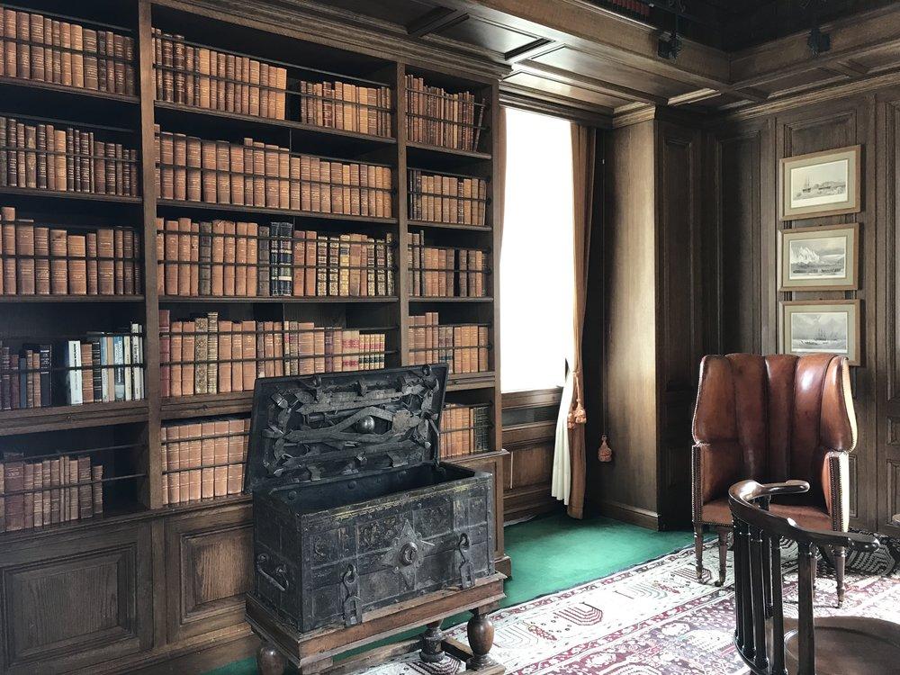 The map room in Villa Balbianello