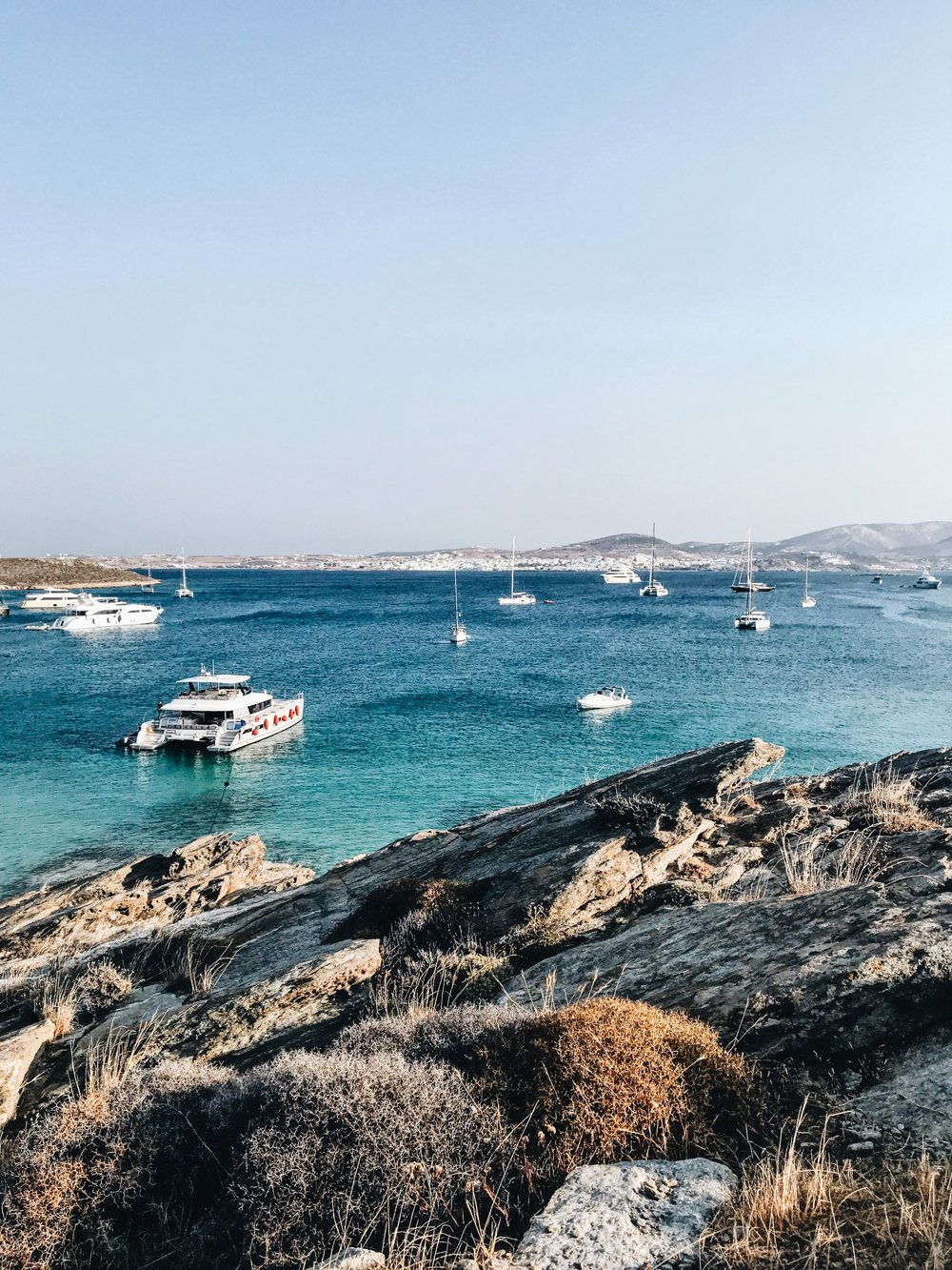The secluded beach a few minutes walk from Monastiri beach on Paros