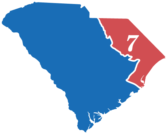 SC Congressional District 7 map
