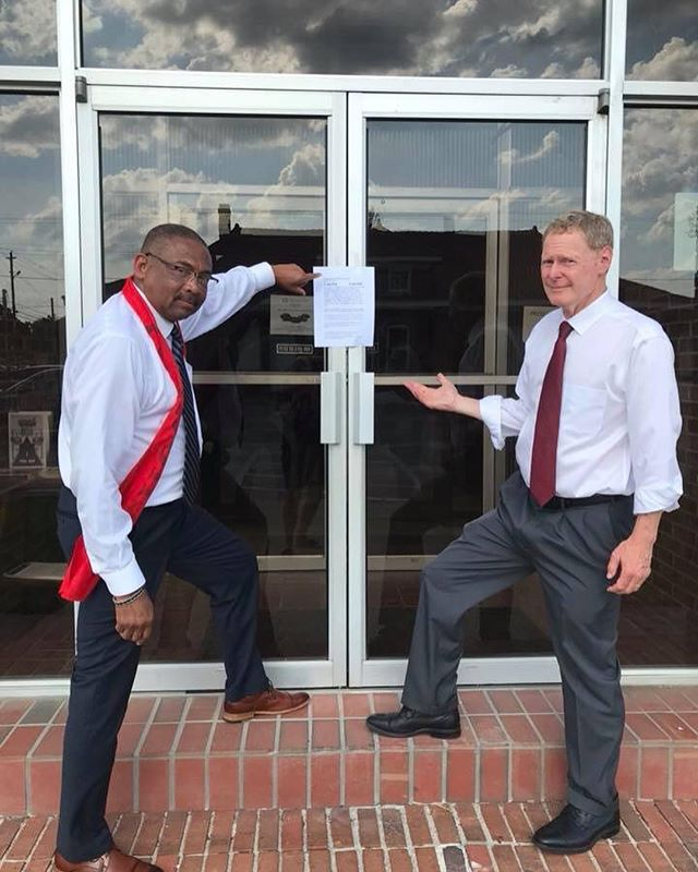 Debate and dialogue are crucial for the democratic process. My opponent has shown time and again that he does not respect that process, nor the voters.  In 2016, Tom Rice refused to debate me.  In 2018, Robert Williams refuses to debate me. If you traveled to Florence tonight like we did to find this note on the door, I apologize. I was ready to stand up and let the voters of district 7 hear me, and make an informed choice on Tuesday. It seems that Robert Williams was not.