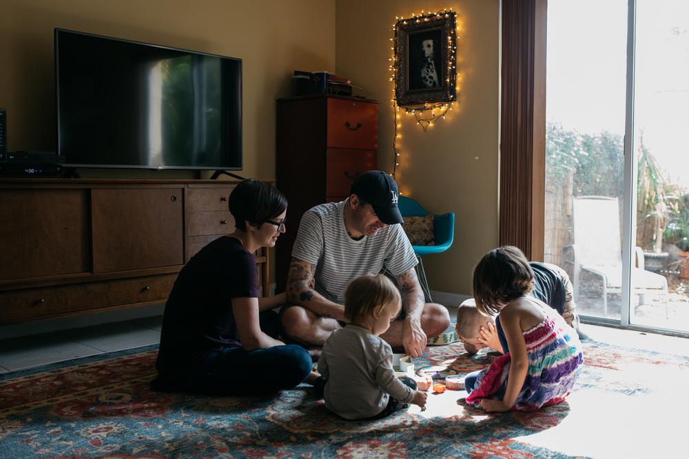 documentary family session by Stephanie Sonju