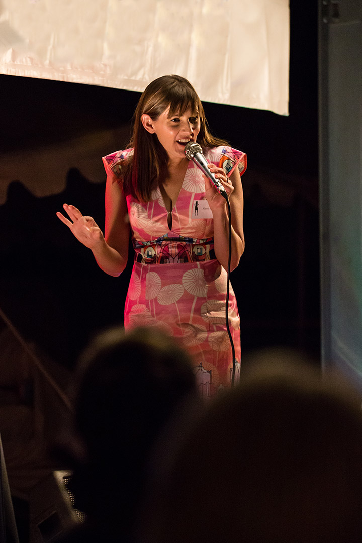 "Nicole MCing at the ""Channel Country Ladies Day"" at Betoota in 2014 - photograph taken by Louise Gronold of  Louise Gronold Imagery"