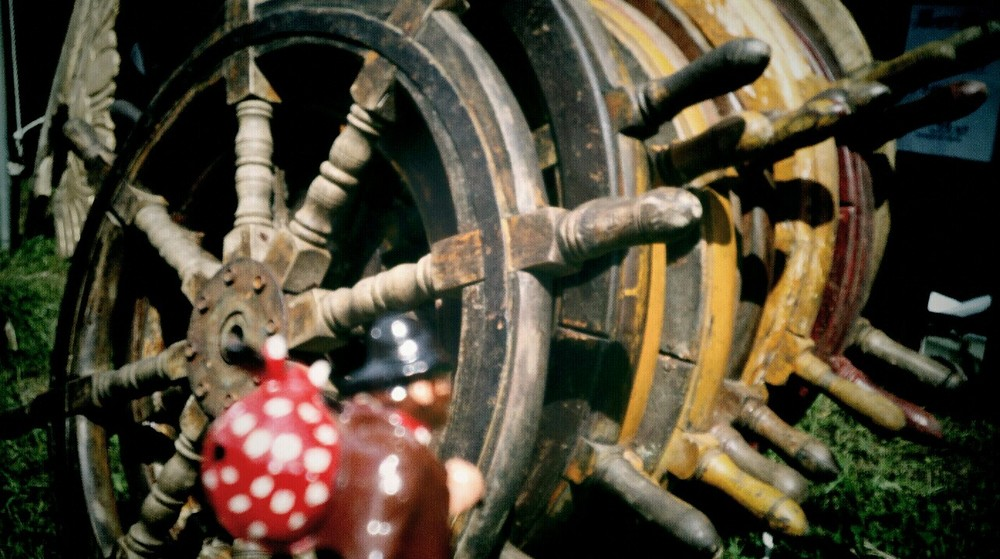 So a pirate walks into a bar with a ship's wheel on his…