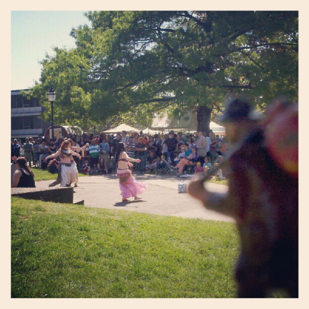 Belly dancing the common