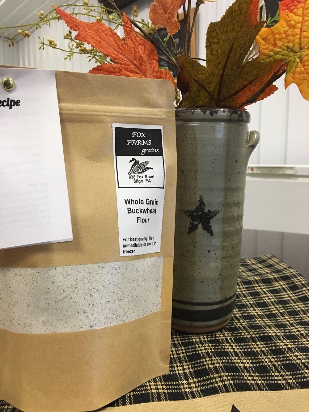 Raw Buckwheat Flour - From Fox Farms in Tintown