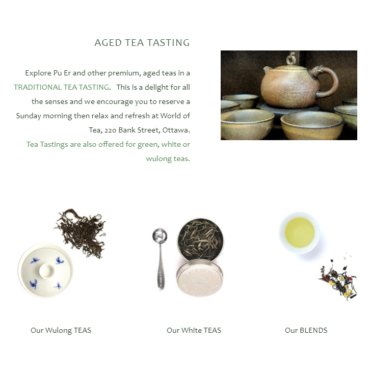 home page World of Tea, 2018, Ottawa