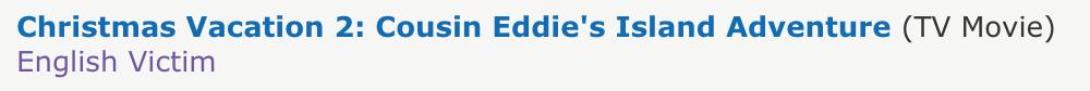 Yep. That's Eric Idle. English Victim.