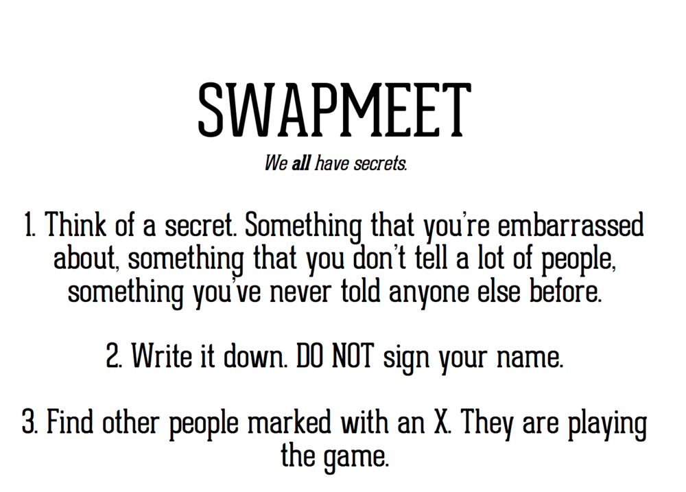 An except of the Swapmeet Rules -