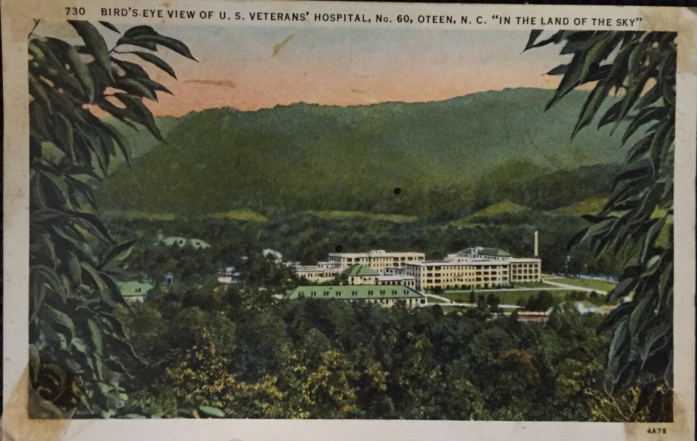"He sent a postcard, a ""bird's eye view"" from the hospital ""in the land of the sky"" on June 13, 1936 to his mother in Dillard, Georgia, writing he was ""just fine,"" and he felt ""like going fishing."""