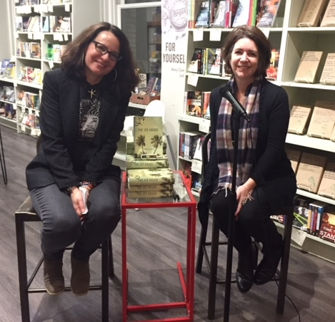 Laura Lee Smith, right, at M.Judson Booksellers. Laura is on tour for THE ICE HOUSE, her latest novel. That's me on the left, in conversation with Laura.