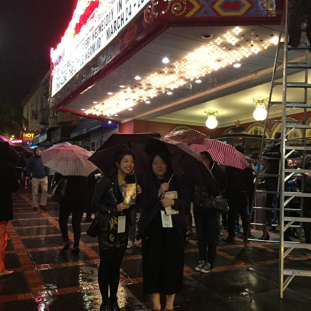 Haisong and I in front of the Castro Theatre -- CAAMFest's Opening Night venue.