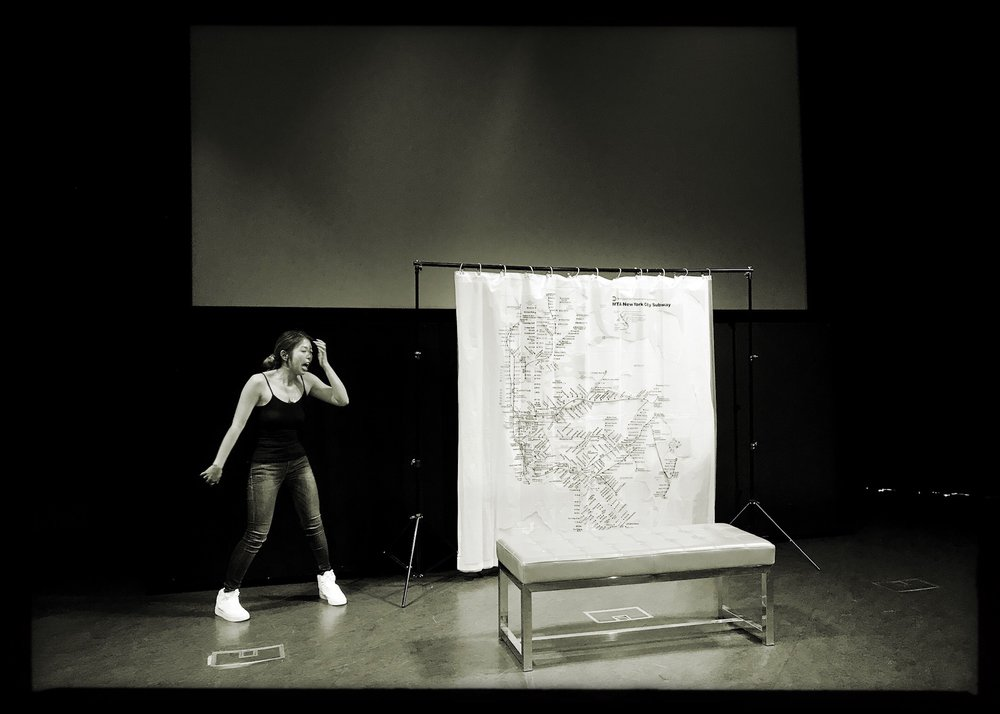 Performing in LA's Tateuchi Democracy Forum - Japanese American National Museum. Photo by Karin Anna Cheung.