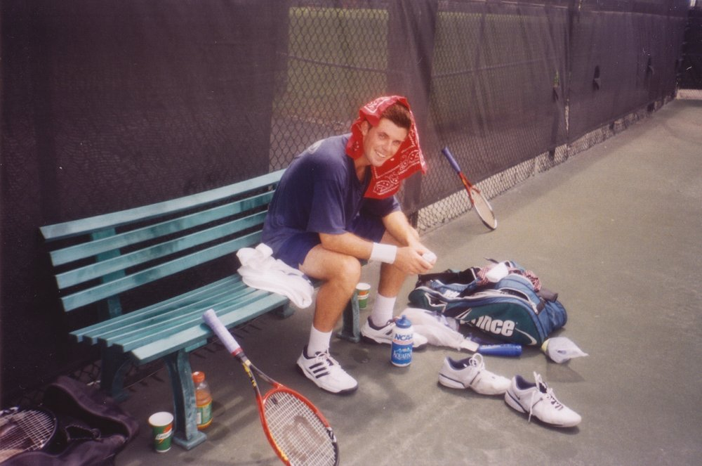 Life on the road as a tennis player. Practicing in Miami, FL after spending the night sleeping in a rental car!
