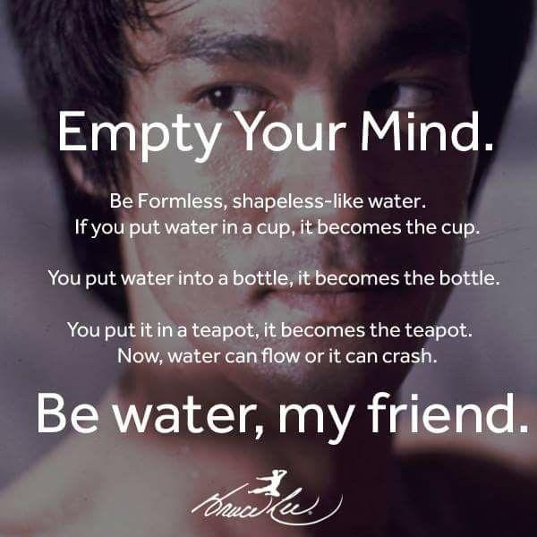January 25th 2018 Be Like Water Books By Josh