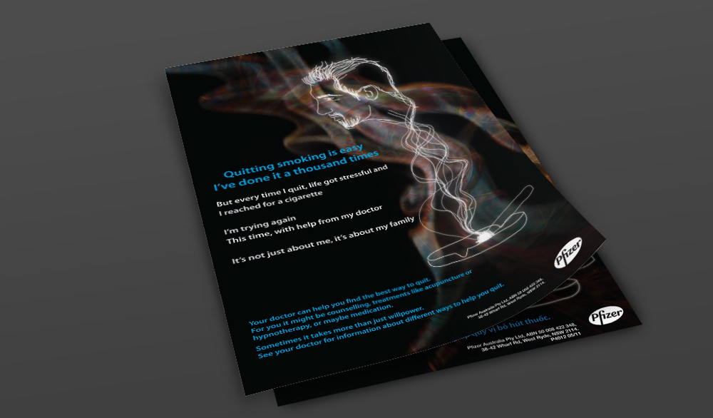 Pfizer Australia - 'Up In Smoke' Anti-smoking Campaign