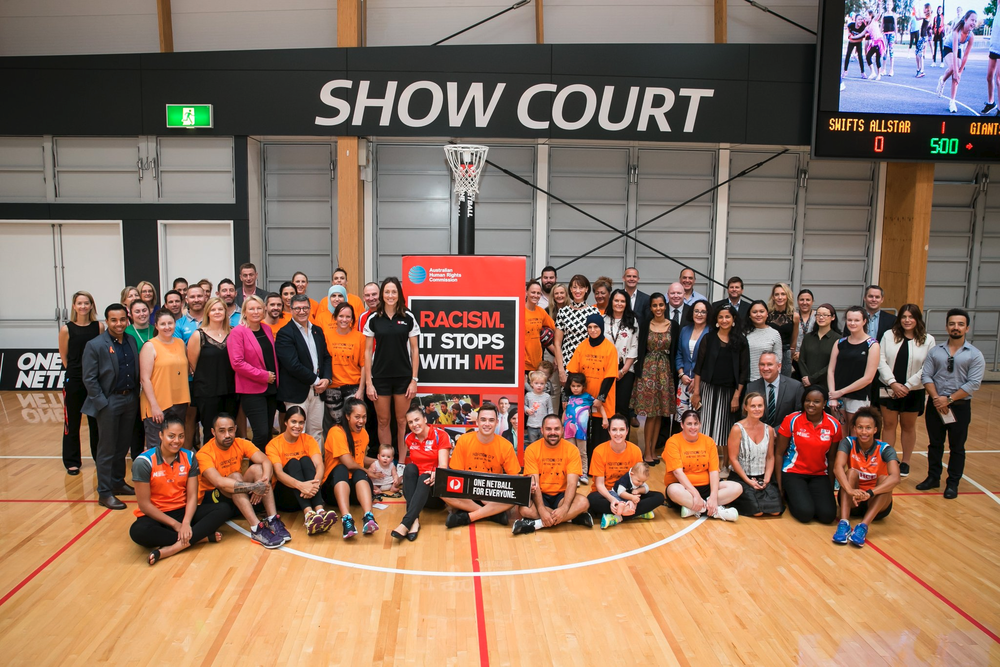 Group Photo of One Netball Match Attendees