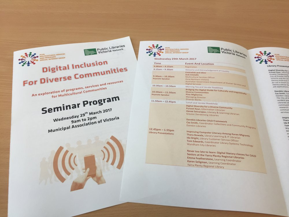 2017 Digital Inclusion for Diverse Communities Seminar Program