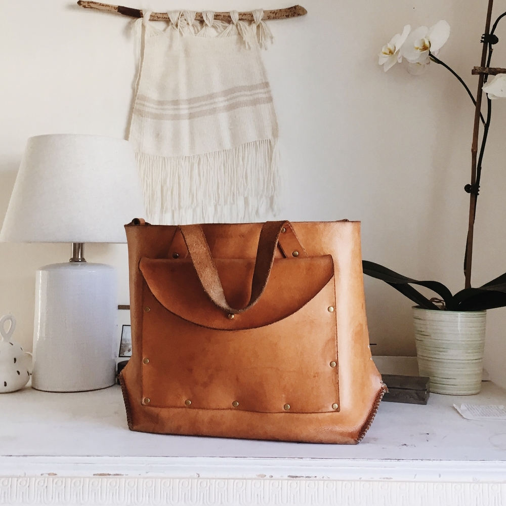 Pocket Tote in Natural after a few years of use!